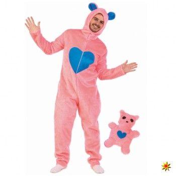 Herren Kostüm, Overall rosa Bärchen kaufen