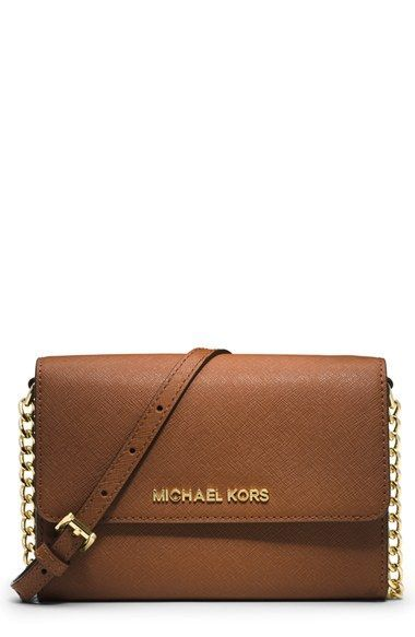 fe93a793091f MICHAEL Michael Kors 'Large Jet Set' Saffiano Leather Crossbody Bag  available at #Nordstrom