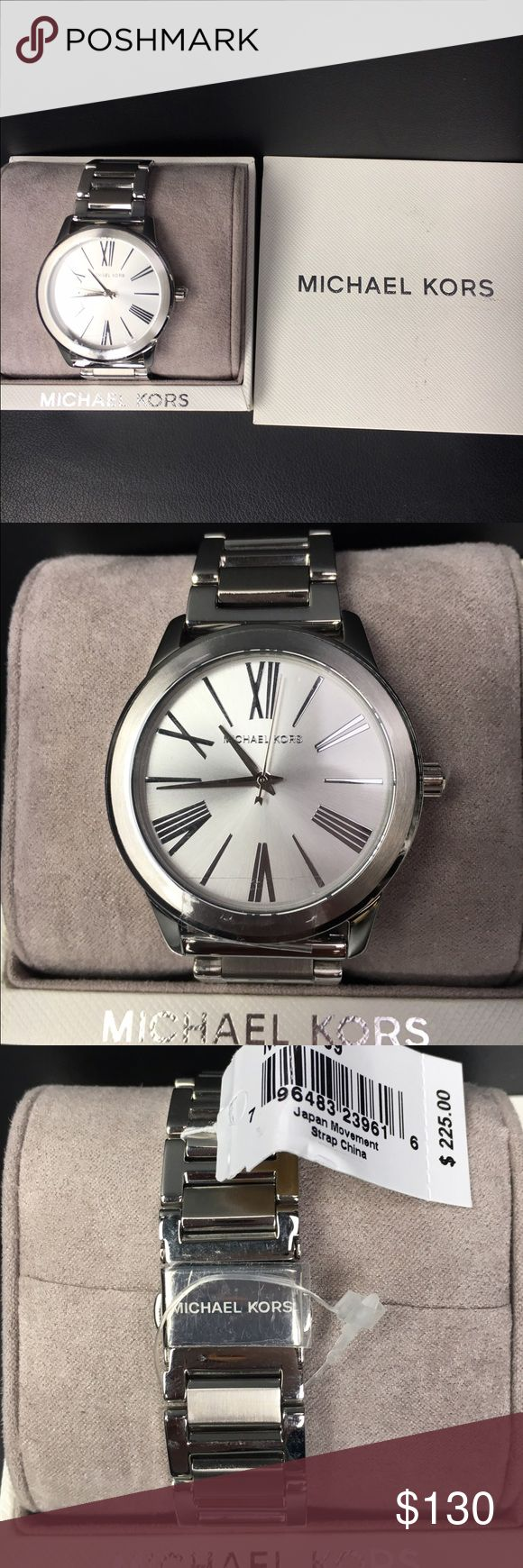 NWT MICHAEL KORS Watch - NWT MICHAEL KORS Watch   - Silver watch with Roman numerals. Traditional linked band and monogrammed clasp  - 100% GUARANTEED AUTHENTIC   - NEW WITH TAGS and in original box Michael Kors Accessories Watches