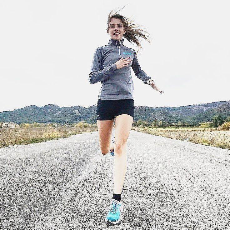 Thin runner girl