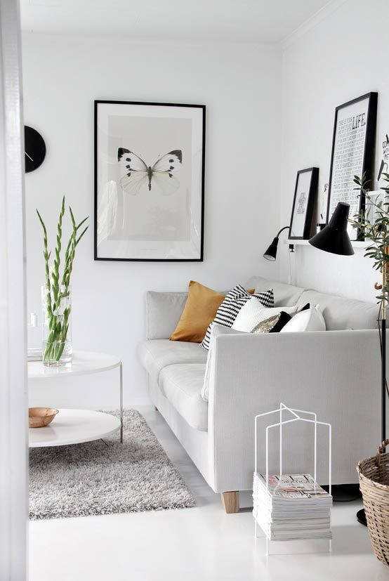 Modern & Sophisticated Black and White Living Room | L.A. Design Concepts Blog