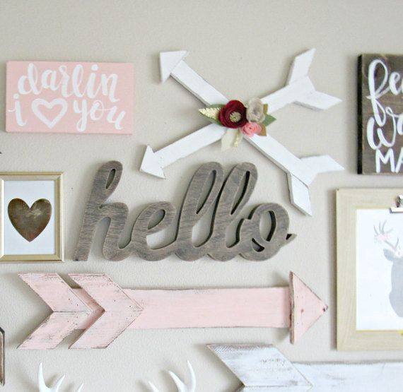 59 best images about nursery ideas on pinterest arrow for Baby room wall ideas