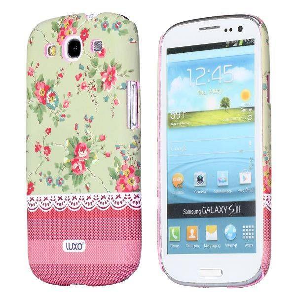 Bloemen groen hoesje Samsung Galaxy S3