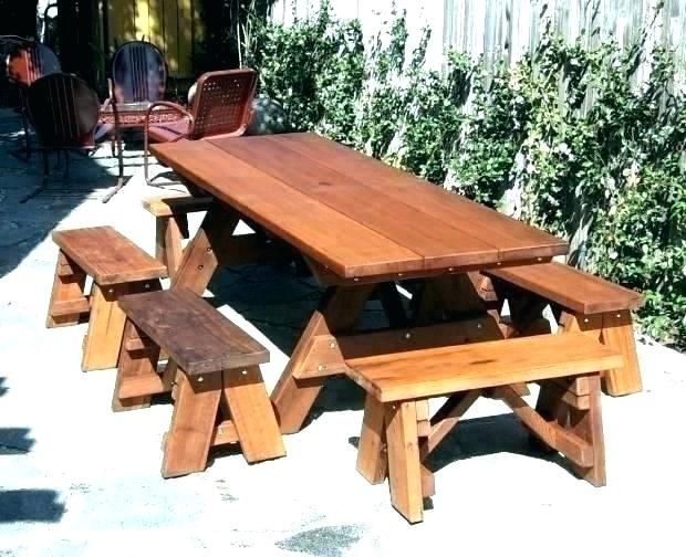 Plans For Picnic Table With Detached Benches Build A Picnic