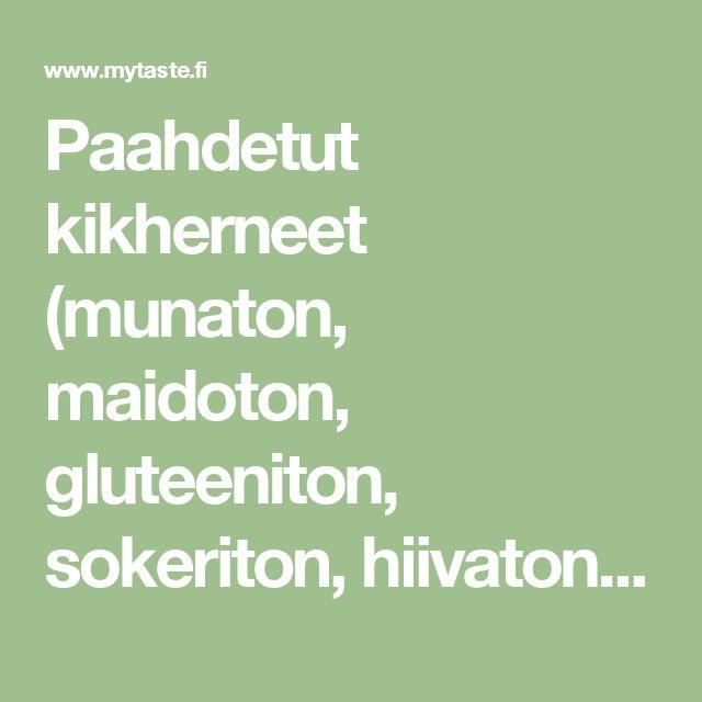 Paahdetut kikherneet (munaton, maidoton, gluteeniton, sokeriton, hiivaton, vegaaninen) - myTaste.fi