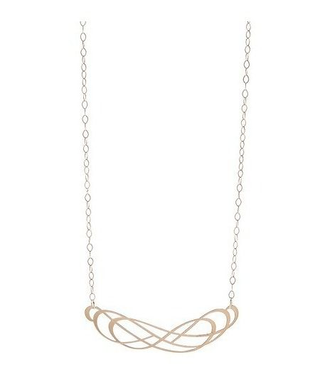 Double infinity gold charm necklace