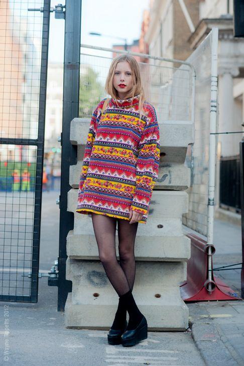 Street Style Aesthetic: London - Fair Isle