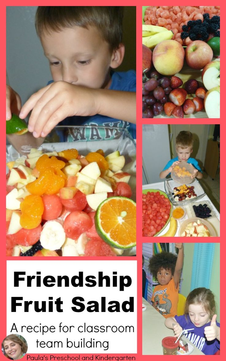 Friendship Fruit Salad, a recipe for classroom team building.