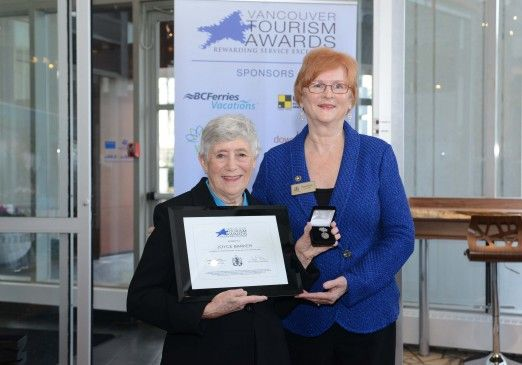 Click to read the story that won Joyce a Vancouver Tourism Award. Joyce has been a volunteer of Tourism Vancouver for more than 18 years. She helps out with Tickets Tonight inquiries, too!