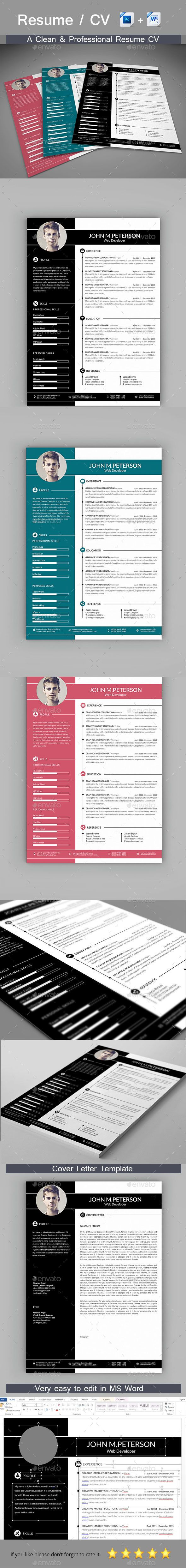 download job resume format%0A  Resume  Resumes Stationery Download here  http   graphicriver net