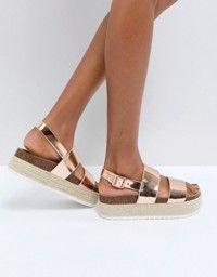 08675ab805 DESIGN Thear Espadrille Flatform Sandals | shoes | Chunky sandals ...