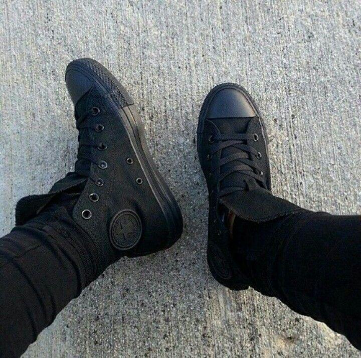All black chukers...