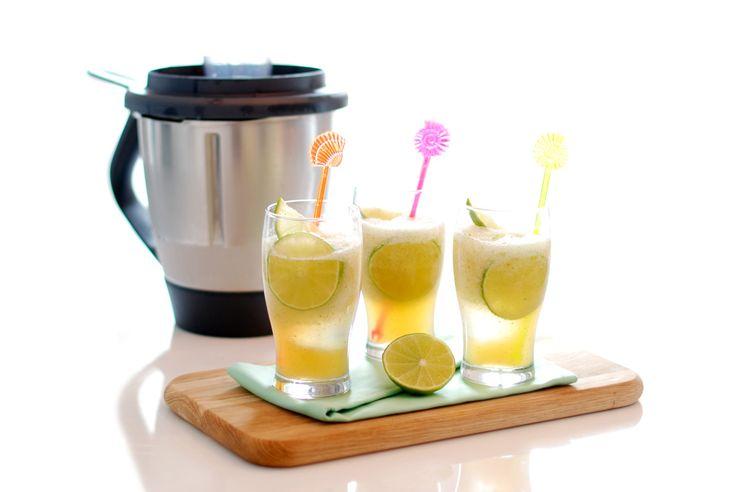 Receta de Mojito con Thermomix ®, hoy preparamos un granizado para cambiar un poco la presentación de esta típica bebida.