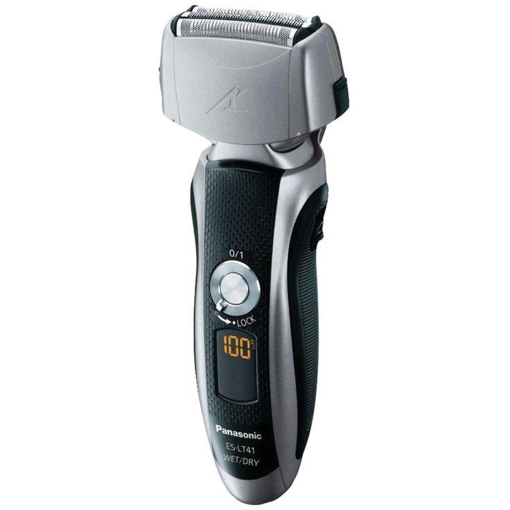 Panasonic ES-LT41-K Men's 3-Blade Wet/Dry Rechargeable Electric Shaver, Silver