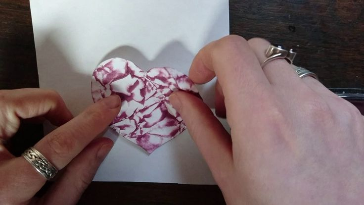 Colouring Paper. Valentines / Anniversary Greetings Card Craft Jitsu. On...
