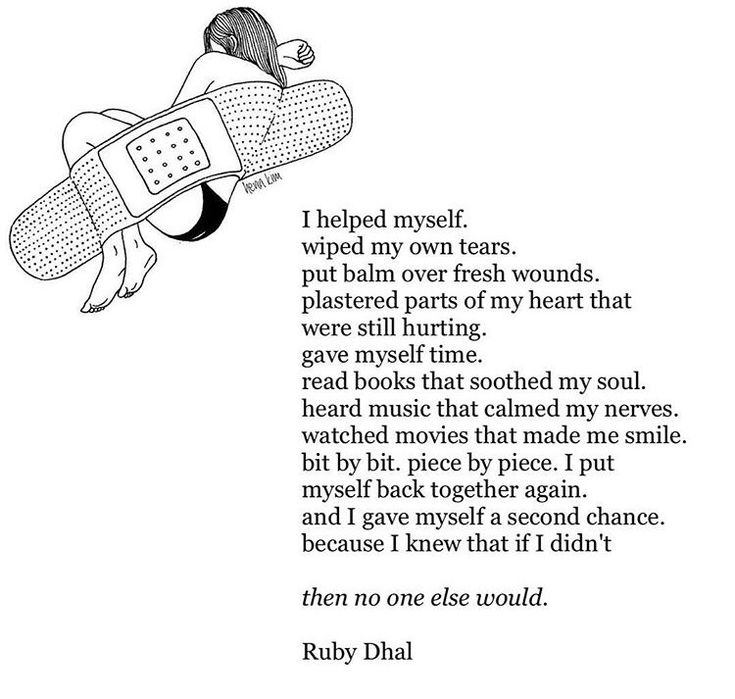 "gracedperception: """"I gave myself a second chance because I knew that if I didn't then no one else would."" -Ruby Dhal """