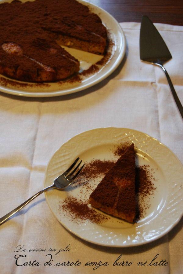 Torta di carote (di Simone Rugiati) senza burro senza latte e senza olio   La cuisine tres jolie