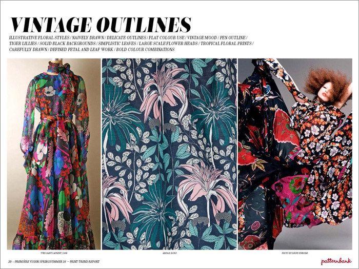 Première Vision Spring/Summer 2018 Print & Pattern Trend Report | Patternbank - Vintage Outlines