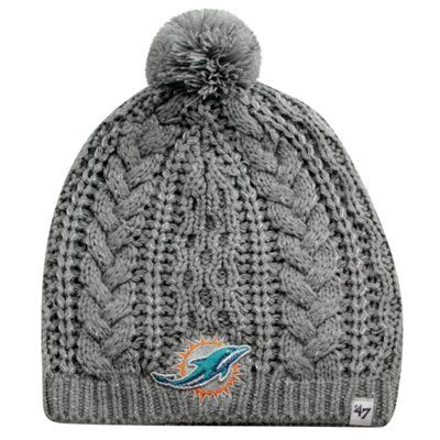 '47 Brand Miami Dolphins Ladies Kiowa Knit Hat - Gray