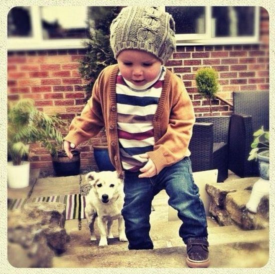 little boy style - cardigan, stripes, shoes, hat, | http://best-cute-babies-gallery.blogspot.com