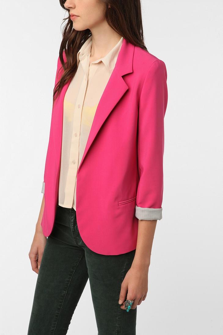 hot pink blazer: Light Pink Blazers, Noise Boyfriends, Hot Pink Blazers, Blazers 78, Boyfriends Blazers, 2012 Blazers Amazing, Boyfriend Blazer, Noi Boyfriends, Bf Blazers Urbn