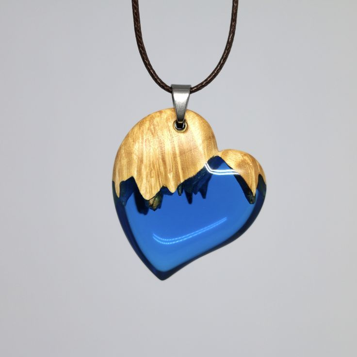 Accessories made of special wood and resin wood resin jewelry, design, necklace wooden pendant