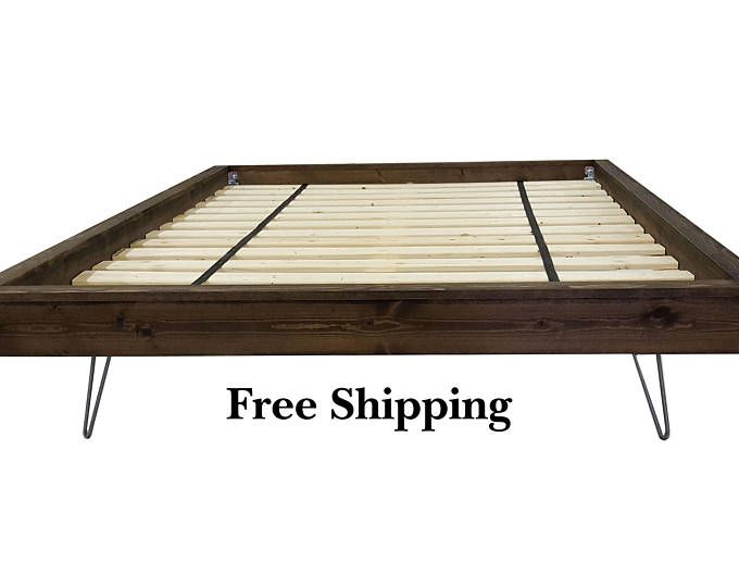Platform Bed Bed Frame Four Post Platform Bed Twin Twin Etsy