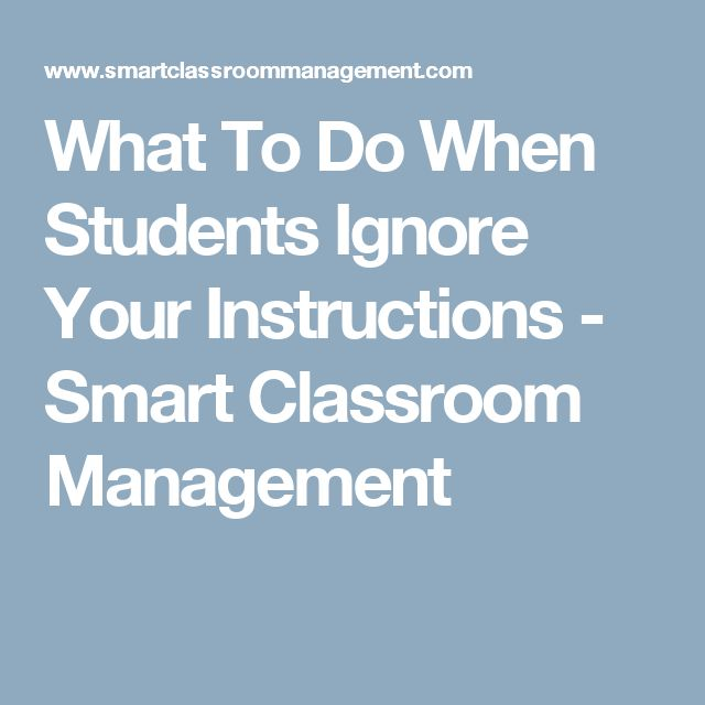 340 best subbing images on pinterest school english and salts what to do when students ignore your instructions smart classroom management fandeluxe Gallery