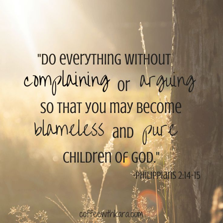 Philippians 2:14-15 Do everything without...