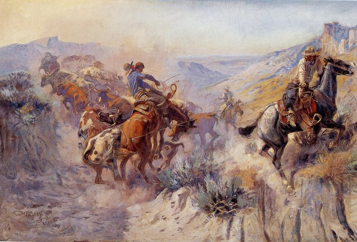 Famous cowboy art - photo#6
