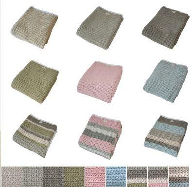 Gebreide dekens van Fair and Cute, in 9 verschillende kleuren! http://aukgaaf.com/nl/trends4kids-brocante-babykamer-landelijke-kinderkamer-complete-babykamers.html?brand=107