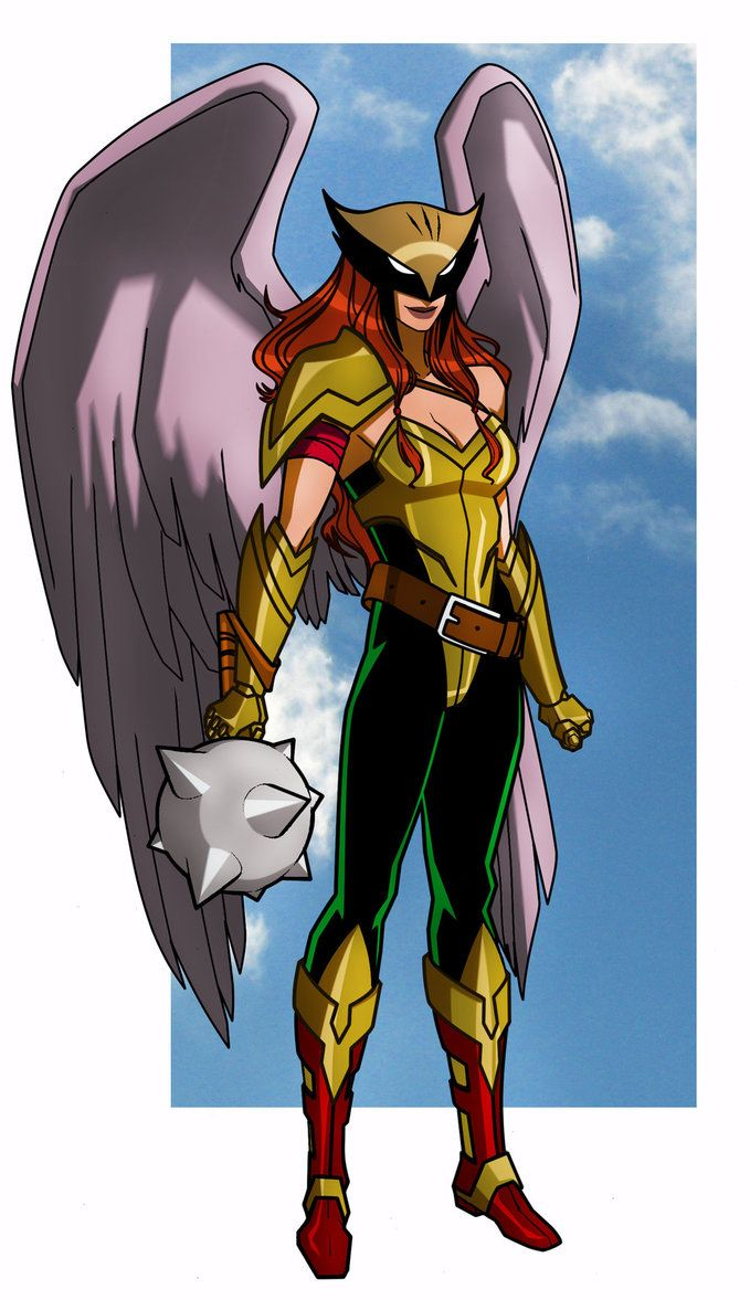 HAWKGIRL (HAWKWOMAN): I like this armored version. Maybe after I do her classic version.