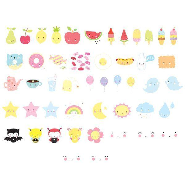 Image of Lightbox letter set: Kawaii