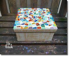 Vamos decorar uma caixa de MDF com mosaico.  #craft #DIY #artesanato