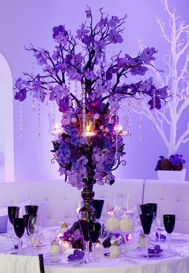 25 Stunning Wedding Centerpieces - Part 13 - Belle the Magazine . The Wedding Blog For The Sophisticated Bride Purple Weddings