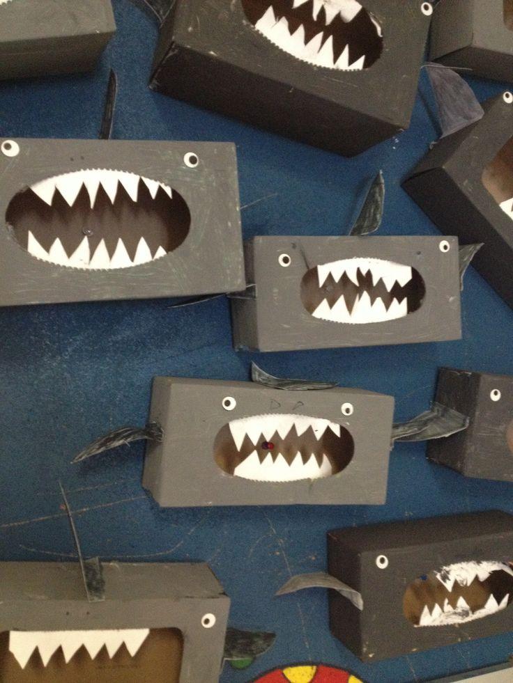 requin en bo te de kleenex fond marin pinterest. Black Bedroom Furniture Sets. Home Design Ideas