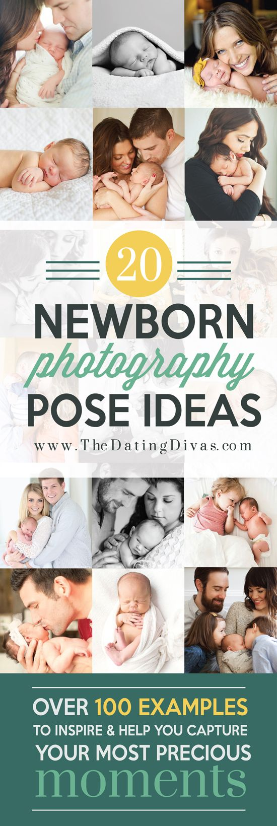 This is the ULTIMATE newborn posing guide! 20 precious pose ideas for newborns! This will be so helpful! www.TheDatingDivas.com