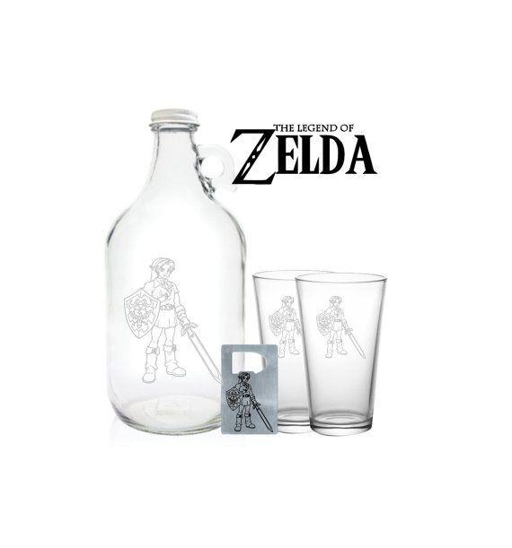 Zelda Growler 64oz Beer Growler with Legend of by PeerlessCustom