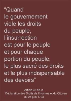 Art. 35 de la Déclaration des Droits de l'Homme et du Citoyen du 24 juin 1793