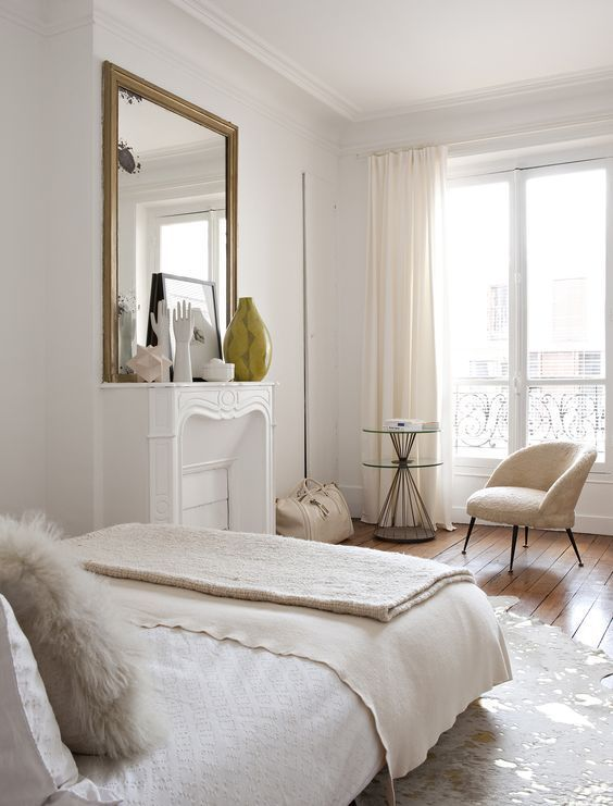 The elegant Paris apartment of interior designer Emilie Bonaventure. Photo by Nicolas Mathéus