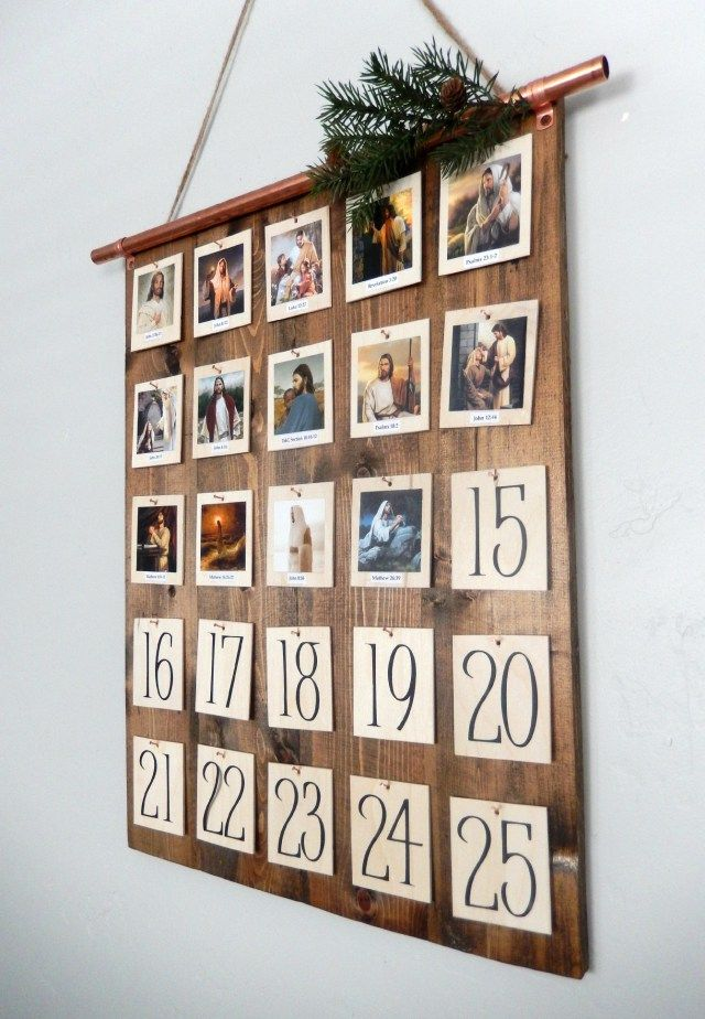 Make a modern DIY Christ Centered Advent Calendar to countdown to Christmas