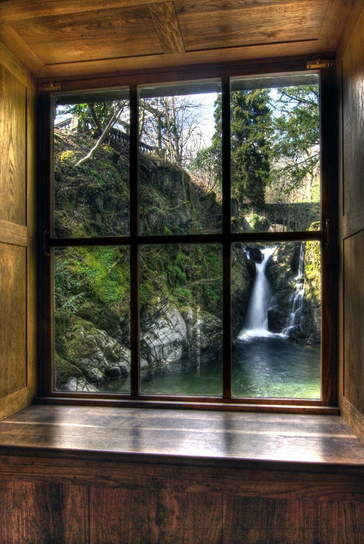 Window Waterfall View