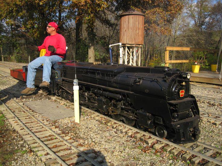 Big live steam locomotives at Mill Creek Central backyard ...