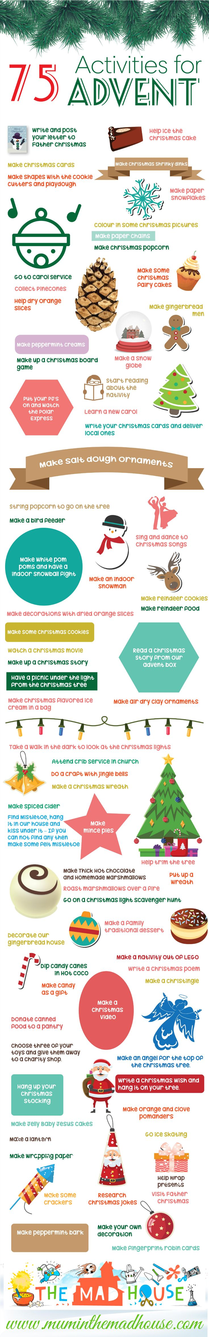 Christmas crafts and advent activities for kids