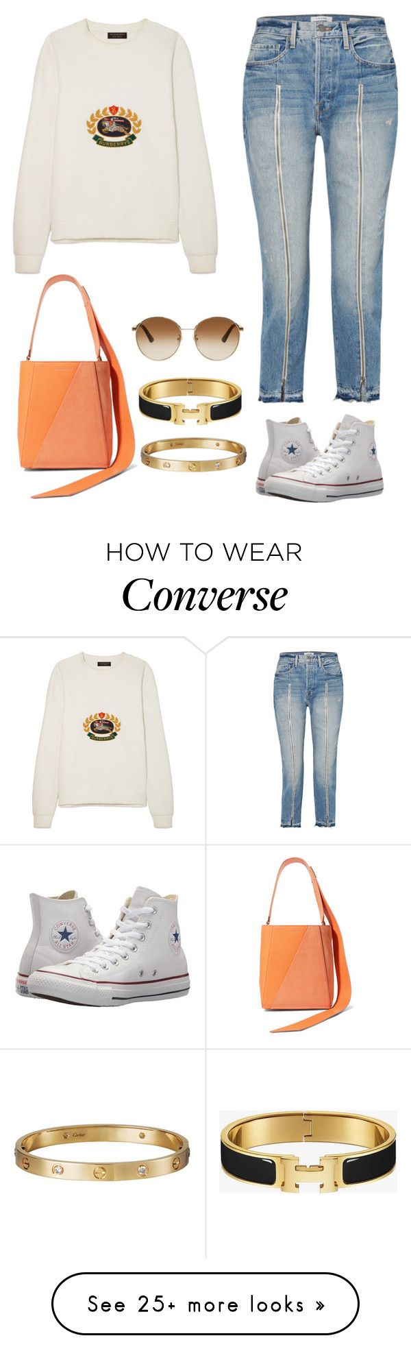 """"" by millylatu on Polyvore featuring Calvin Klein 205W39NYC, Frame, Burberry, Converse, Gucci and Cartier"