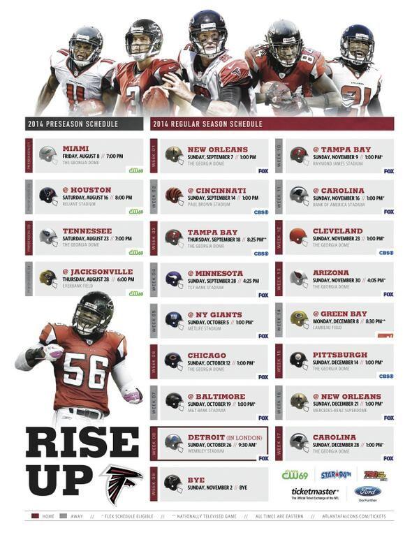 Atlanta Falcons 2014-2015 schedule