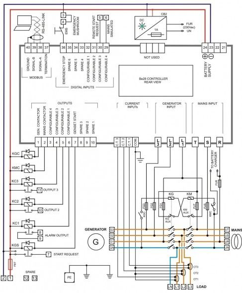 wiring diagram of ats panel