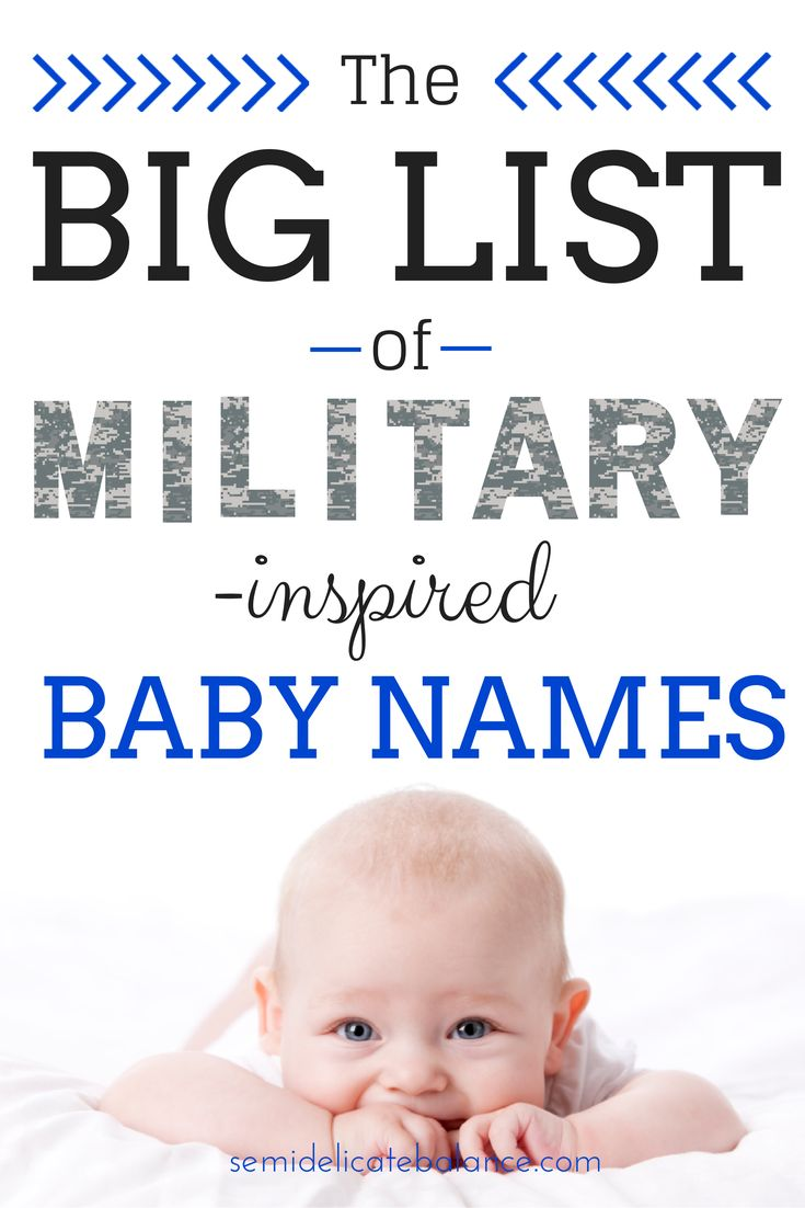 The Big List of Military-Inspired Baby Names