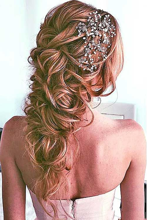 Really Nice Wedding Hairstyles for Long Hair # Hairstyles # Hairstyles2018 #Front Hairstyles #Front Hairstyles #Hair #Hair Models #New Hairstyles #New Hairstyles