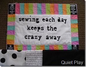 Maybe that's been my problem lately... not nearly enough sewing!